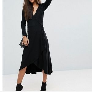ASOS Tall Long Sleeve Wrap Dress